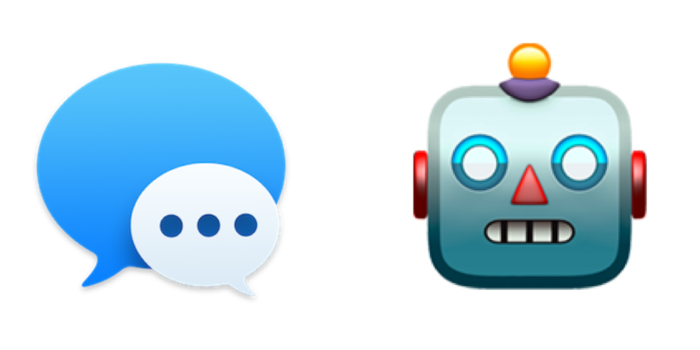 iMessage icon with robot emoji