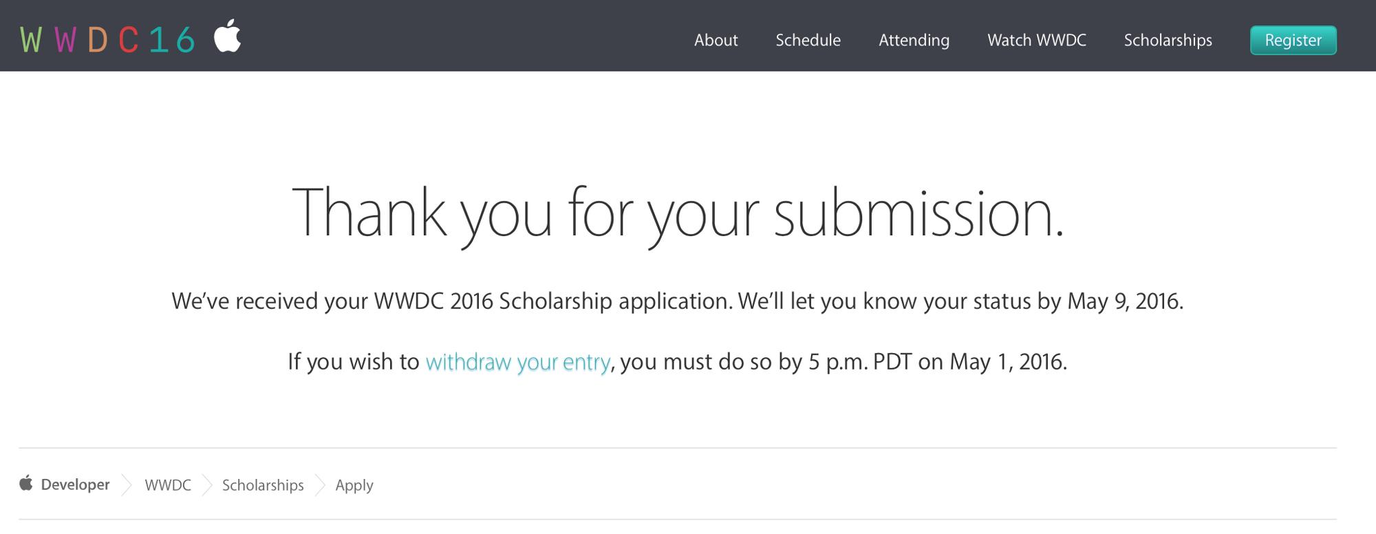 Applying To The WWDC Scholarship